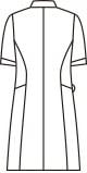 ナースジャケット半袖[住商モンブラン製品] 73-172 バックスタイルイラスト