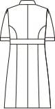 ナースワンピース半袖[住商モンブラン製品] 73-1732 バックスタイルイラスト