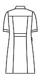 ナースワンピース半袖バックスタイルイラスト