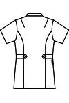 ナースジャケット半袖[住商モンブラン製品] 73-198 バックスタイルイラスト