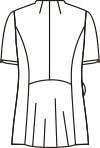 ナースジャケット半袖[住商モンブラン製品] 73-220 バックスタイルイラスト