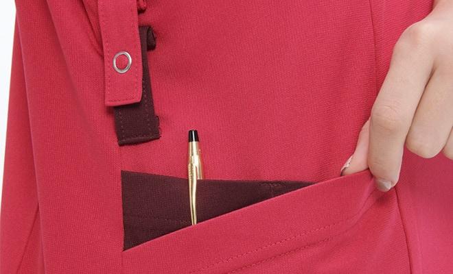 配色使いの二重ポケット