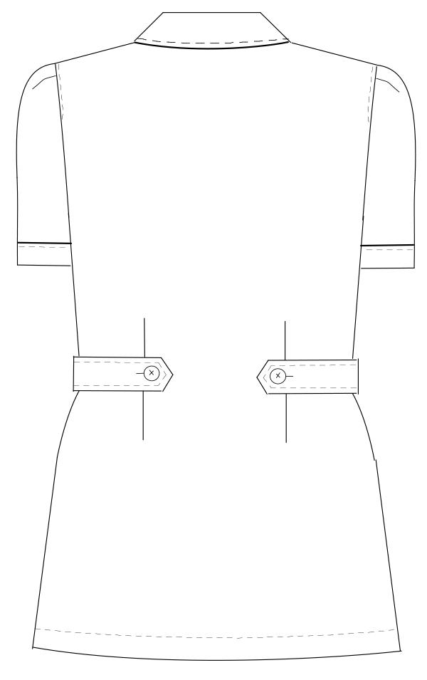 CA-1702 バックスタイルイラスト