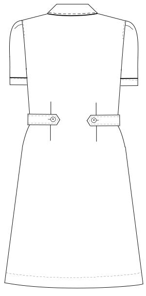 CA-1707 バックスタイルイラスト