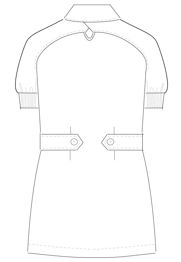 CA-1752 バックスタイルイラスト