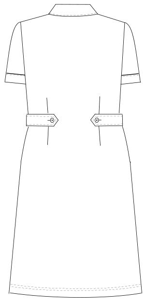 HO-1687 バックスタイルイラスト