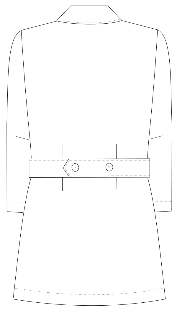 HO-1911 バックスタイルイラスト