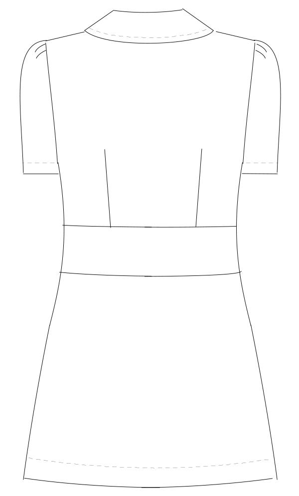 KM-2152 バックスタイルイラスト