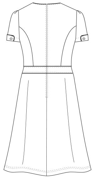 LH-6297 バックスタイルイラスト