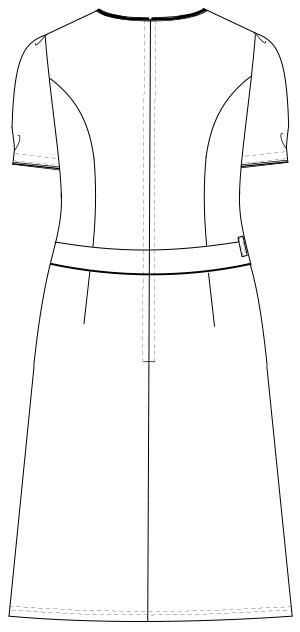 LH-6307 バックスタイルイラスト