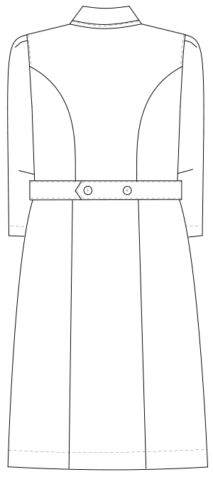 MI-4636 バックスタイルイラスト