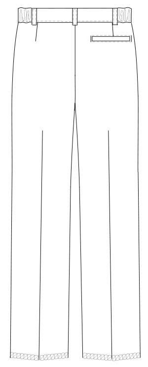 ML-1133 男子パンツ バックスタイルイラスト