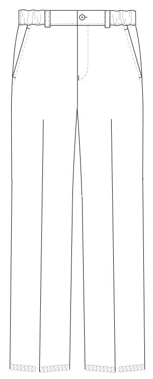 ML-1133 男子パンツ フロントスタイルイラスト