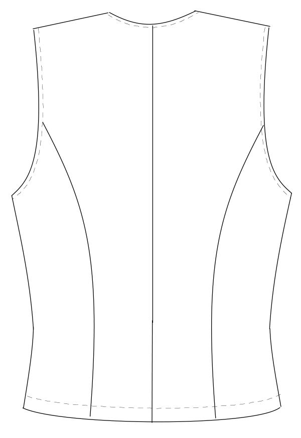 OA-6010 バックスタイルイラスト