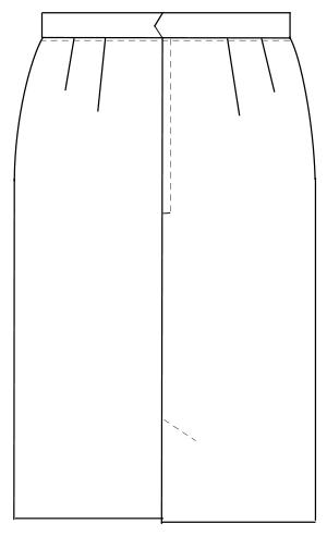 OA-6013 バックスタイルイラスト