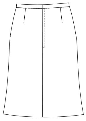 OA-6018 バックスタイルイラスト