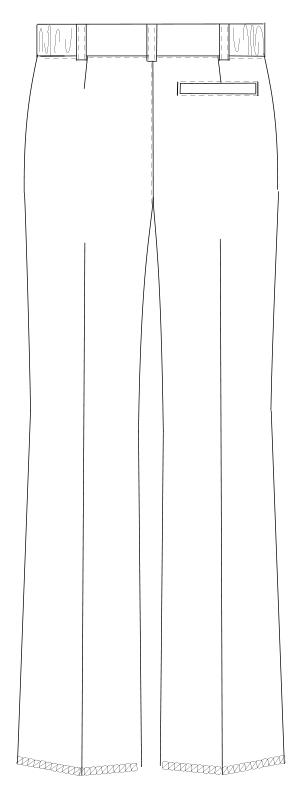 YS-2978 バックスタイルイラスト