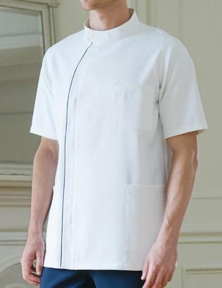 渡辺雪三郎メンズジャケット半袖[KAZEN製品] YW52