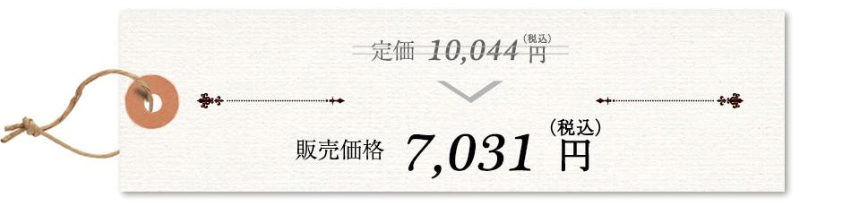 定価(税込)9,030円→販売価格(税込)6,321円
