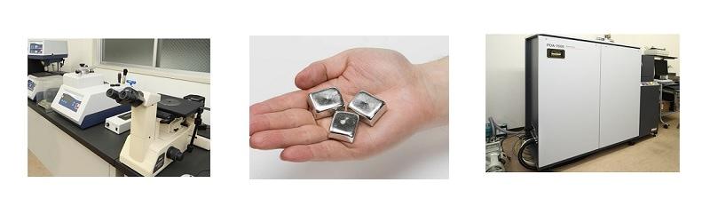 自社で成分分析しています 高品質高純度の金属販売をしています