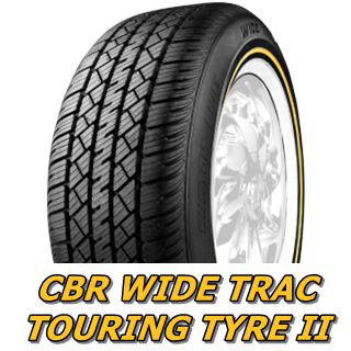 CUSTOM BUILT RADIAL WIDE TRAC TOURING TYRE �バナー