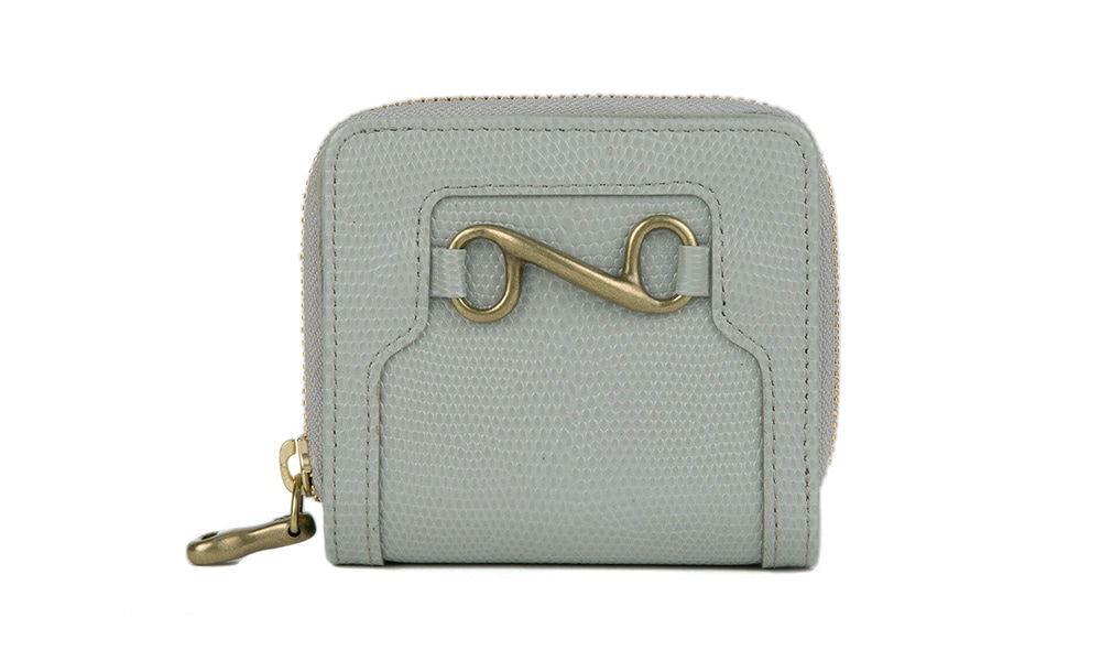 デリスリザード財布(二つ折りジップ)