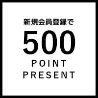 新規会員登録で500POINT PRESENT