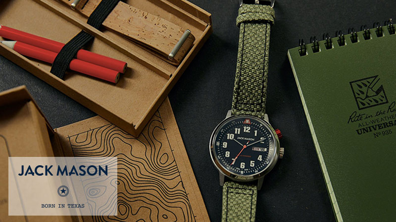 JACK MASON SOLAR WATCH ECO-BOX SET