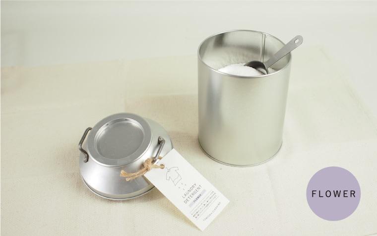 オリジナル洗濯洗剤 フラワー 新ミルク缶入り (ステンレス計量スプーン付)
