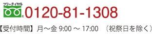 フリーダイヤル0120-81-1308