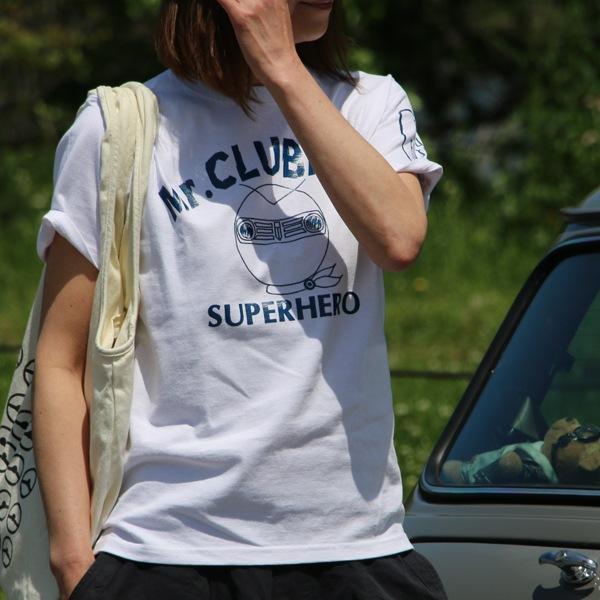 クラシックミニ クラブマン ヒーロー Tシャツ(ホワイト)