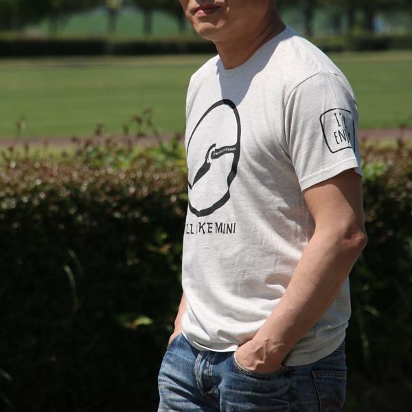 クラシックミニ ステアリング Tシャツ(アッシュ/ブラック)