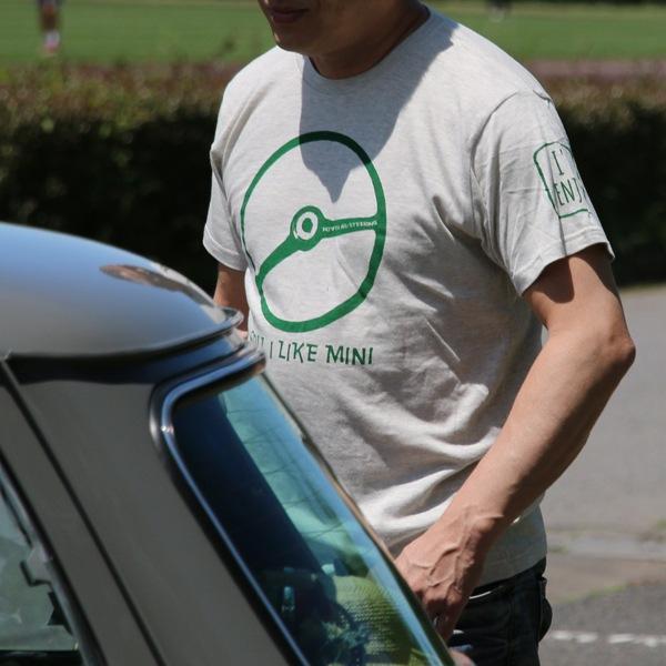 クラシックミニ ステアリング Tシャツ(アッシュ/グリーン)