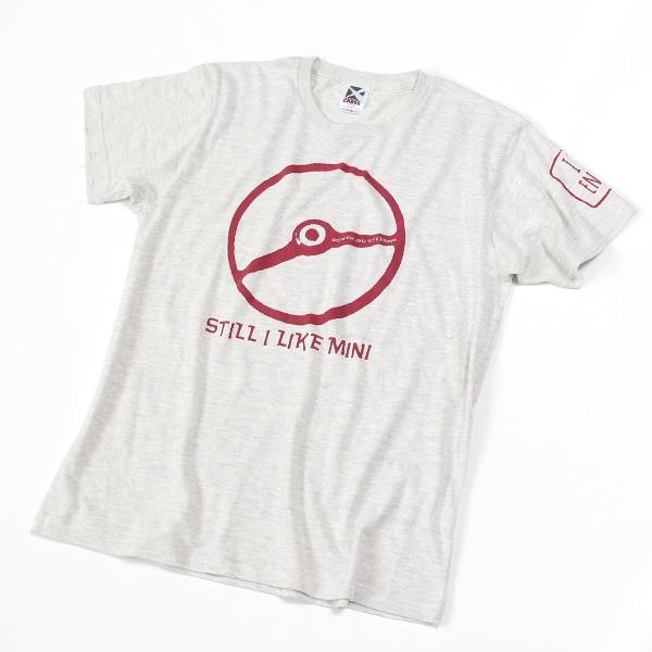 クラシックミニ ステアリング Tシャツ(アッシュ/レッド)