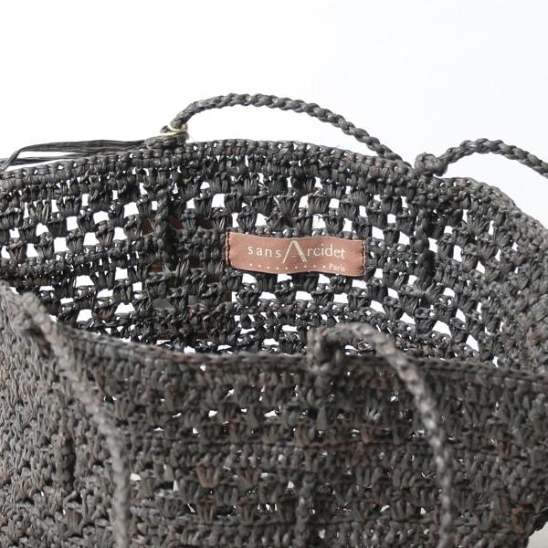 Sans Arcidet(サンアルシデ)のかごバッグラフィアトートバッグCAP BAG S