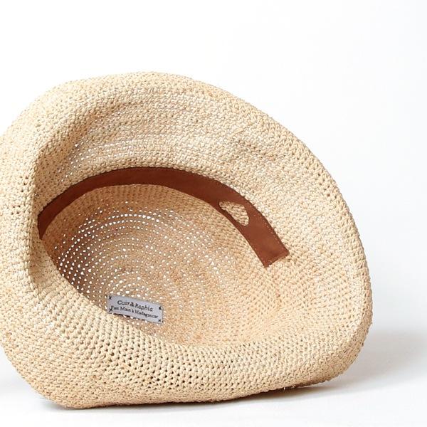 Sans Arcidet(サンアルシデ)の帽子ラフィアハットFANY HAT MA