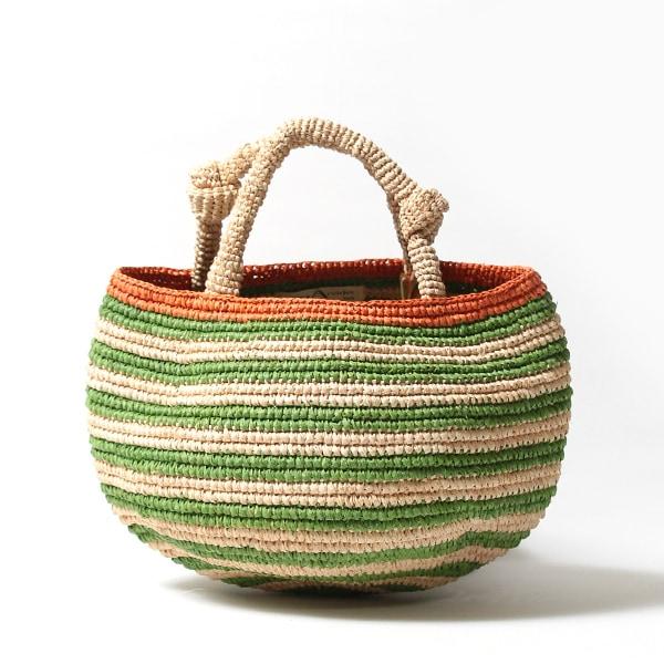 Sans Arcidet(サンアルシデ)のかごバッグラフィアトートバッグTOURE BAG