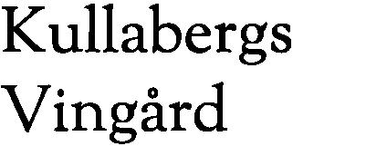Kullabergs Vingård;