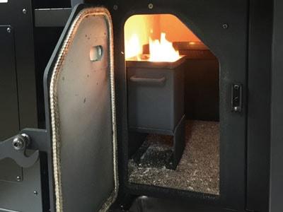 さいかい産業のペレット窯PGY16の燃焼炉