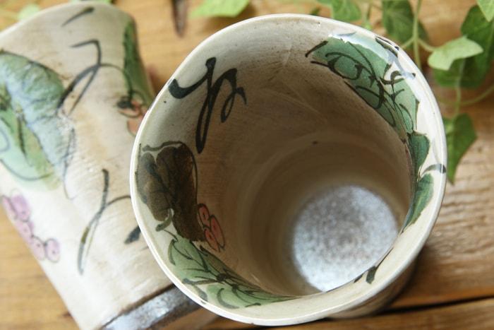 益子焼 カップ ビールカップ フリーカップ ぶどう 益子焼窯元よこやま