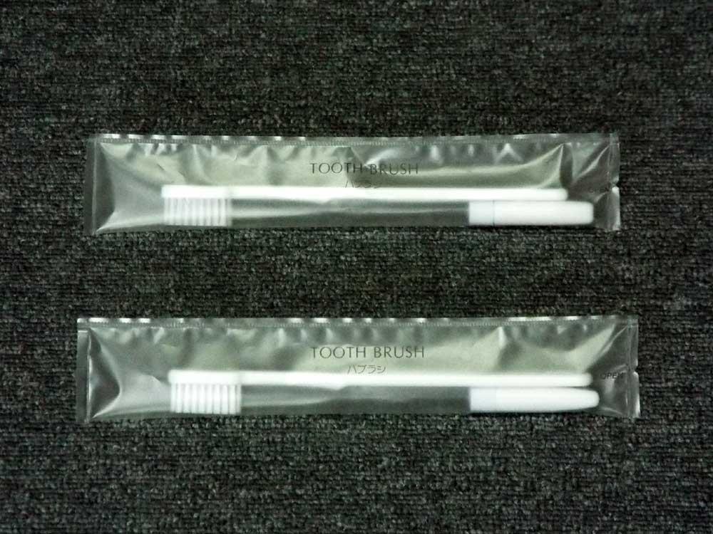 日本製25穴2.5gチューブ付き歯ブラシ