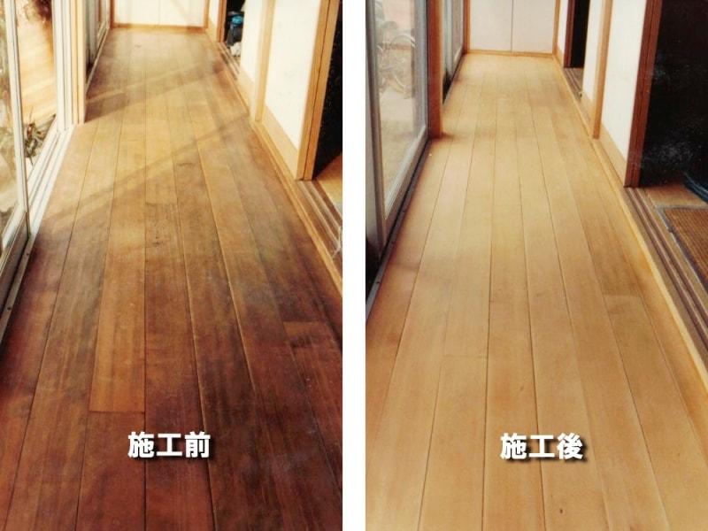 <左側>施工前 <右側>カビやシミを除去