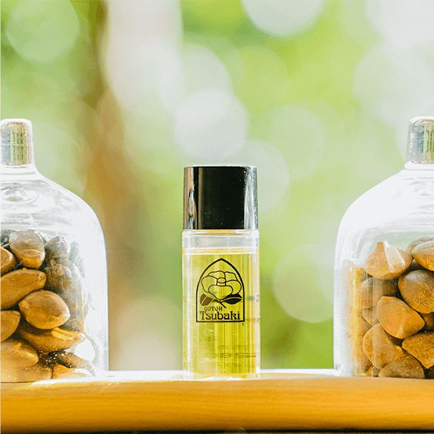 img 椿油は、育て、収穫から搾り出す。