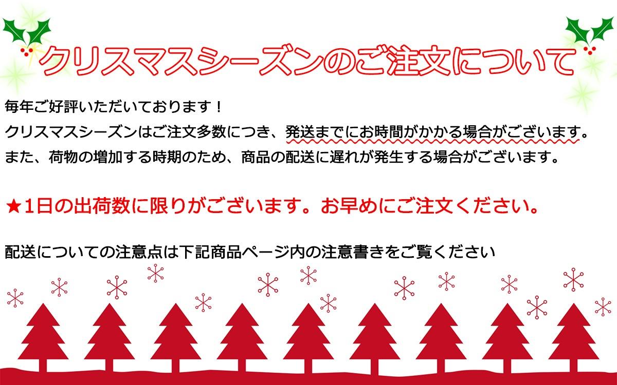 クリスマスシーズンのご注文について