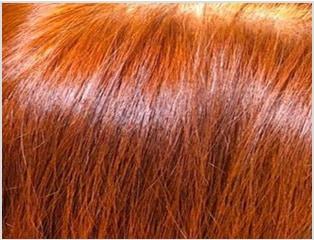 画像:オーガニック琉球ヘナで染めた髪