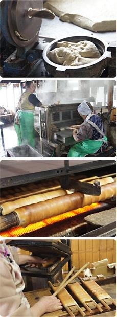 石田製麩所の製造工程