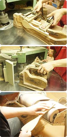 画像:手作りの型
