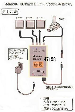 映像信号3分配器