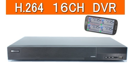 16CH防犯カメラ用録画機DVR
