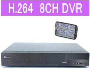 8CH防犯カメラ用録画機DVR